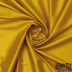 Satin Coton Polyester Élasthanne Couleur Ambre
