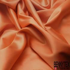 Satin Coton Polyester Élasthanne Couleur Orange Givré