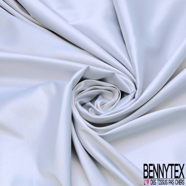 Satin Coton Polyester Élasthanne Couleur Perle