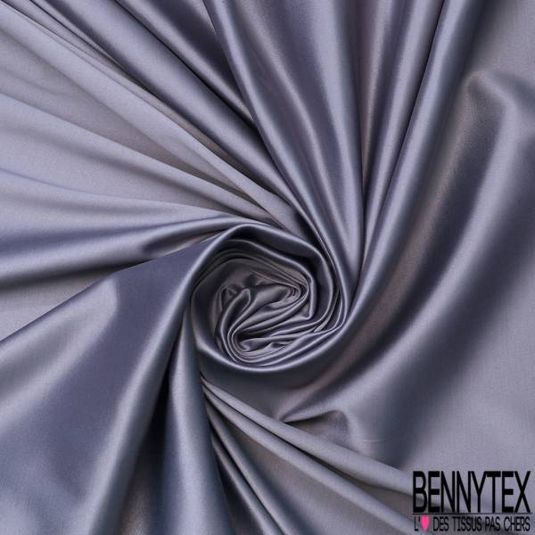 Satin Coton Polyester Élasthanne Couleur Gris Souris