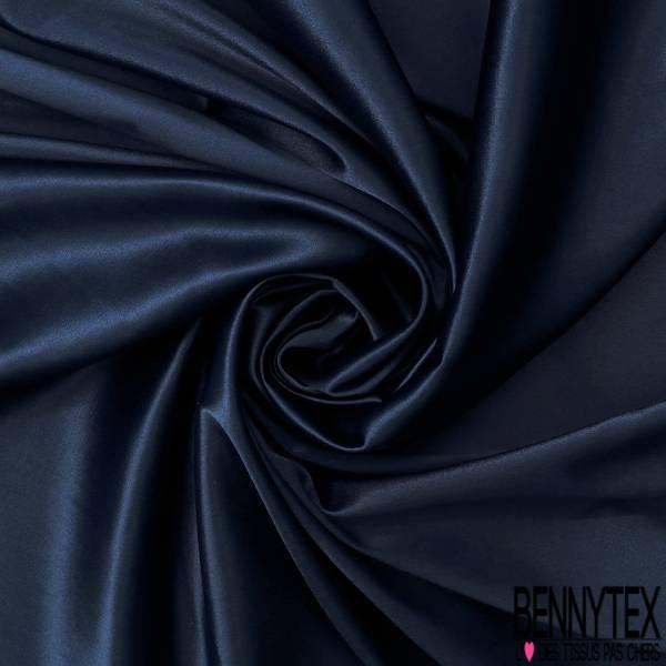 Satin Coton Polyester Élasthanne Couleur Bleu Navy
