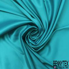 Satin Coton Polyester Élasthanne Couleur Turquoise