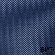 Coton Imprimé Petit Dauphin Bleu fond Marine