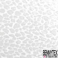 Mousseline Polyester Blanc Cassé Dévoré Viscose Tâchetée Fourrure Blanc Cassé