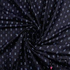 Coton Double Plumeti Fantaisie Marine Ciel fond Noir