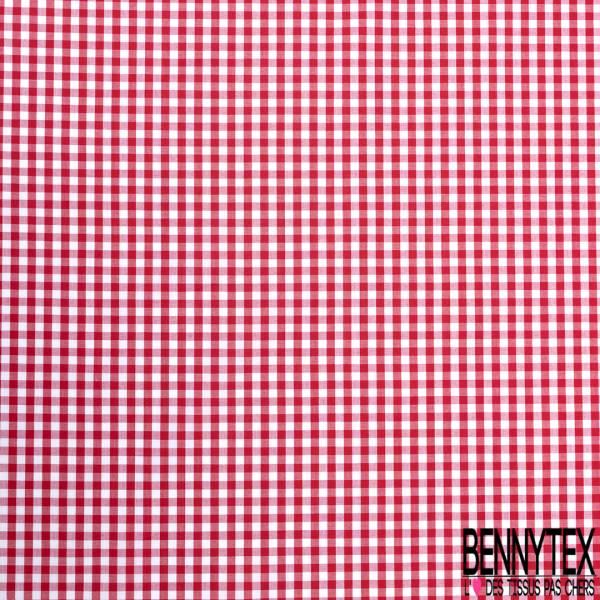 Coton Vichy Rouge Blanc