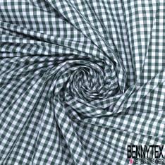 Coton Vichy Sapin Blanc
