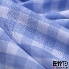 Coton Vichy Bleu Ciel Blanc