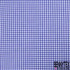Coton Teint Vichy Indigo Blanc