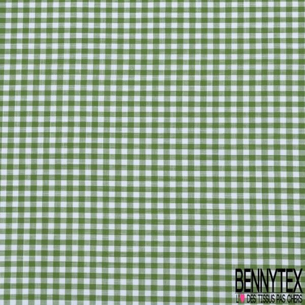 Coton Teint Vichy Vert Pomme Blanc