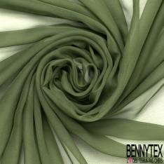 Mousseline de Soie Vert Mélèze