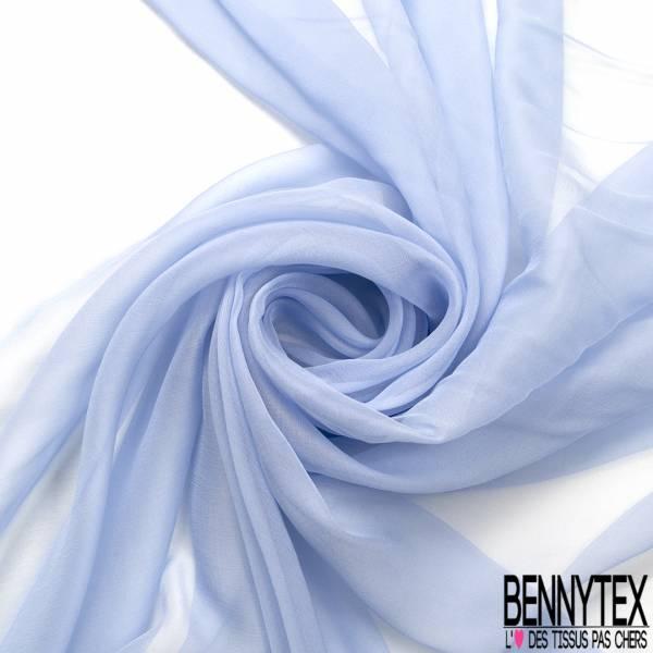 Mousseline de Soie Bleu Layette