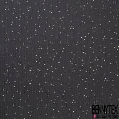 Coupon 3m Coton Double Gaze Anthracite Pastille Relief Or