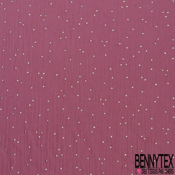 Coupon 3m Coton Double Gaze Rose Blush Pastille Relief Or