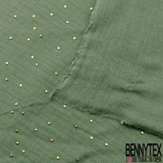 Coupon 3m Coton Double Gaze Amande Pastille Relief Or