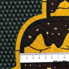Wax Africain N° 557: Base Motif Grosse Pièce Montée fond Triangle Vert Bouteille