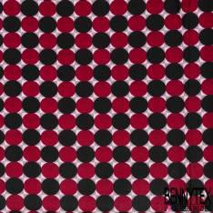 Wax Africain N° 600: Motif Jeu de Dame Géant Rouge Noir
