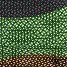 Wax Africain N° 570: Motif Mini Triangle Multicolore
