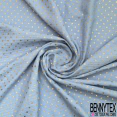 Coupon 3m Coton Double Gaze Ciel Etoile Relief Or