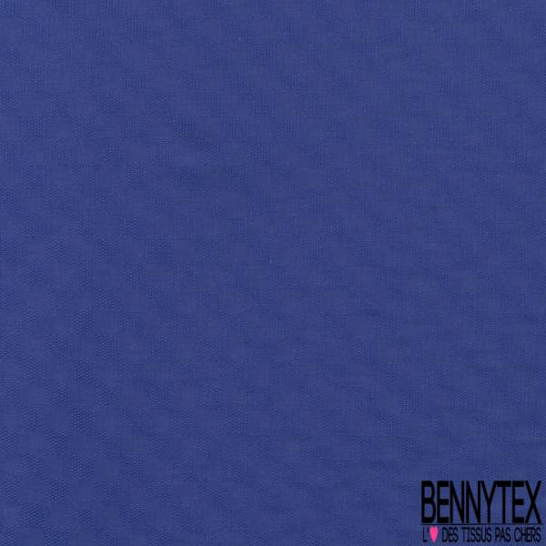Coton Elasthanne effet Quadrillage Fantaisie ton sur ton Bleu Roi