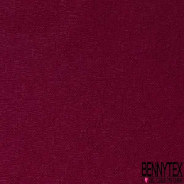 Coton Elasthanne effet Quadrillage Fantaisie ton sur ton Bordeaux
