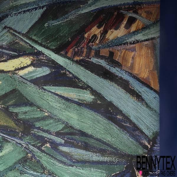 Coton Enduit Impression Tableau Impressionniste Iris