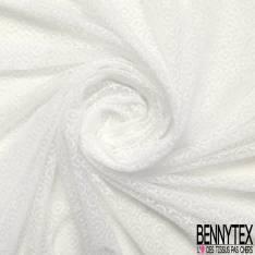 Coupon 3m Résille Rond Fantaisie Elasthanne Blanc Optique
