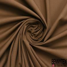 Toile de Coton Polyester Natté Camel Fluide
