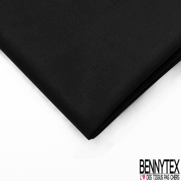 Toile de Coton Polyester Natté Noir