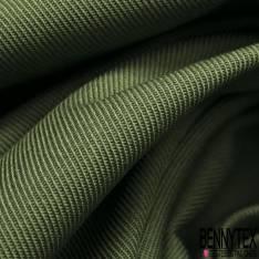 Toile de Coton Polyester Sergé Olive