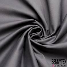Toile de Coton Polyester Sergé Anthracite