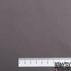 Toile de Coton Polyester Sergé Gris Taupe