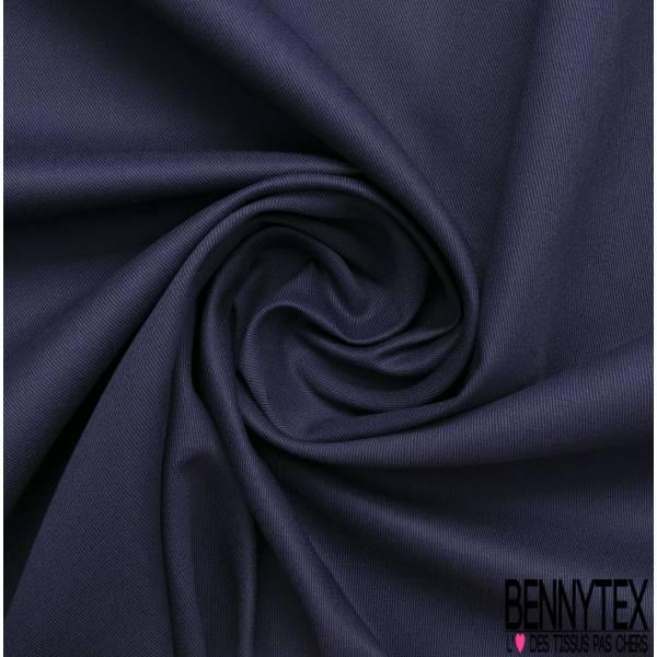 Toile de Coton Polyester Sergé Marine