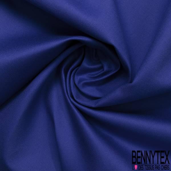 Toile de Coton Polyester Sergé Bleu Roi