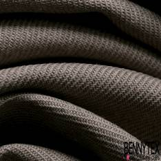 Toile de Coton Polyester Sergé Beige