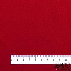 Toile de Gabardine Coton Polyester Rouge Passion