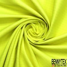 Toile de Gabardine Coton Polyester à Carreaux Jaune Fluo