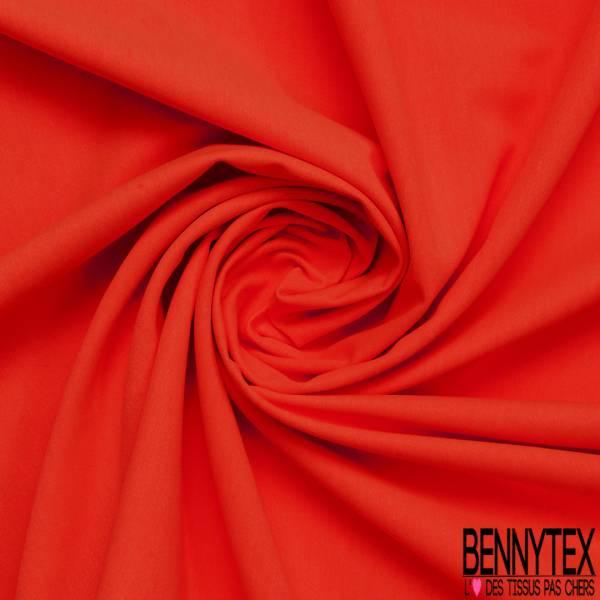 Toile de Gabardine Coton Polyester Orange Fluo