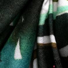 Jersey Viscose Imprimé Ethnique Tropical Multicolore