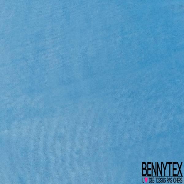 Jersey Bébé Velours Eponge Bleu Layette