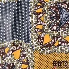 Wax Africain N° 658: Motif Face de Dé Fantaisie fond Fantaisie