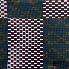 Wax Africain N° 667: Motif Carreau fantaisie avec Dé