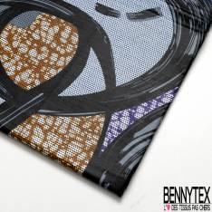 Wax Africain N° 671: Motif Abstrait Coup de Pinceau fond Marbré Pointilliste