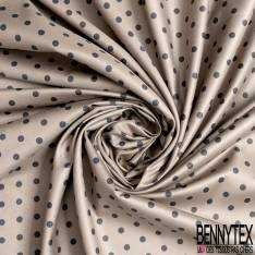 Coton Ottoman Elasthanne Motif Floral Vintage ton Ocre fond Blanc