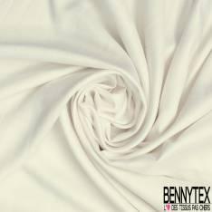 Fibranne Viscose Sergé Toucher Pashmina Uni Blanc assé