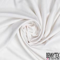 Fibranne Viscose Sergé Toucher Pashmina Uni Blanc