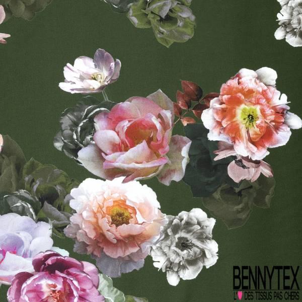 coton satin motif grosse fleur style papier peint fond. Black Bedroom Furniture Sets. Home Design Ideas