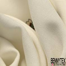 Fibranne Viscose Imprimé Fleur Sauvage Eparse fond Blanc Cassé