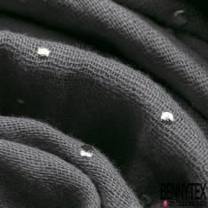 Coton Double Gaze Souris Pastille Relief Argent
