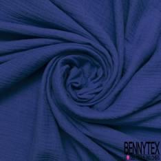 Coton Double Gaze Bleu Roi